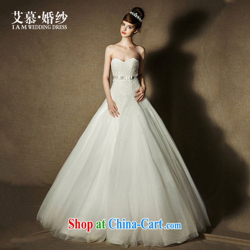 On the wedding dresses new 2015 spring and summer, Ms Elsie Leung Yiu erase chest high waist lace A Field dress wedding ivory L