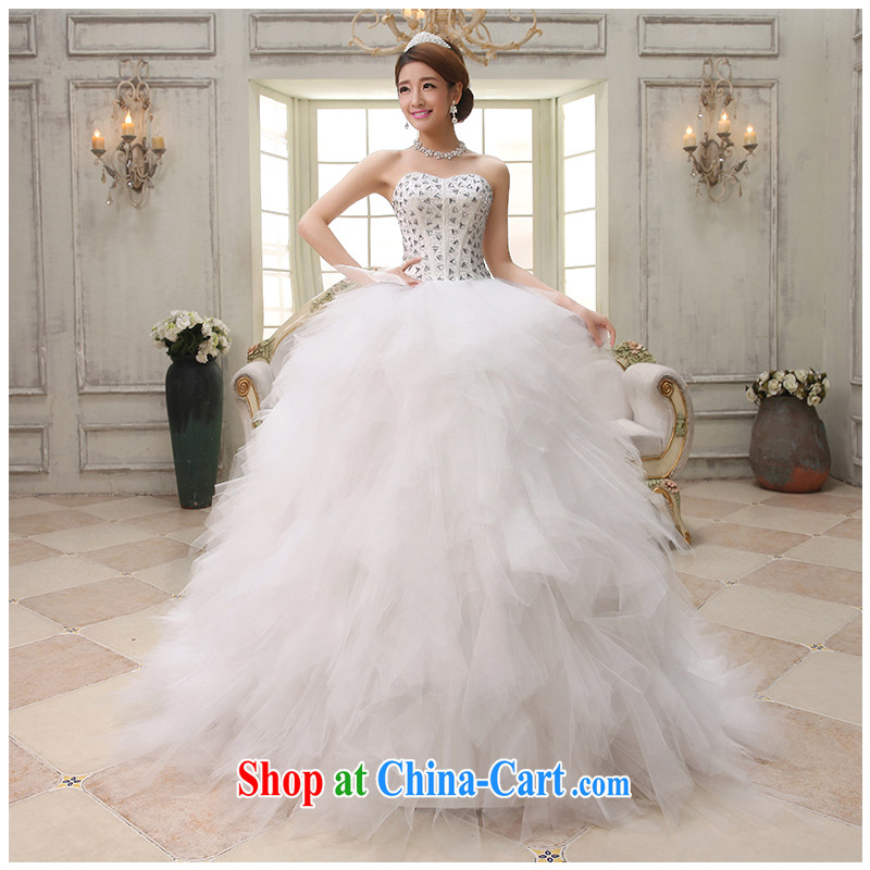 The beautiful yarn 2015 new erase chest stylish wood drill large tail wedding style lady photo building photography tie-cultivating marriages wedding factory direct white customizable