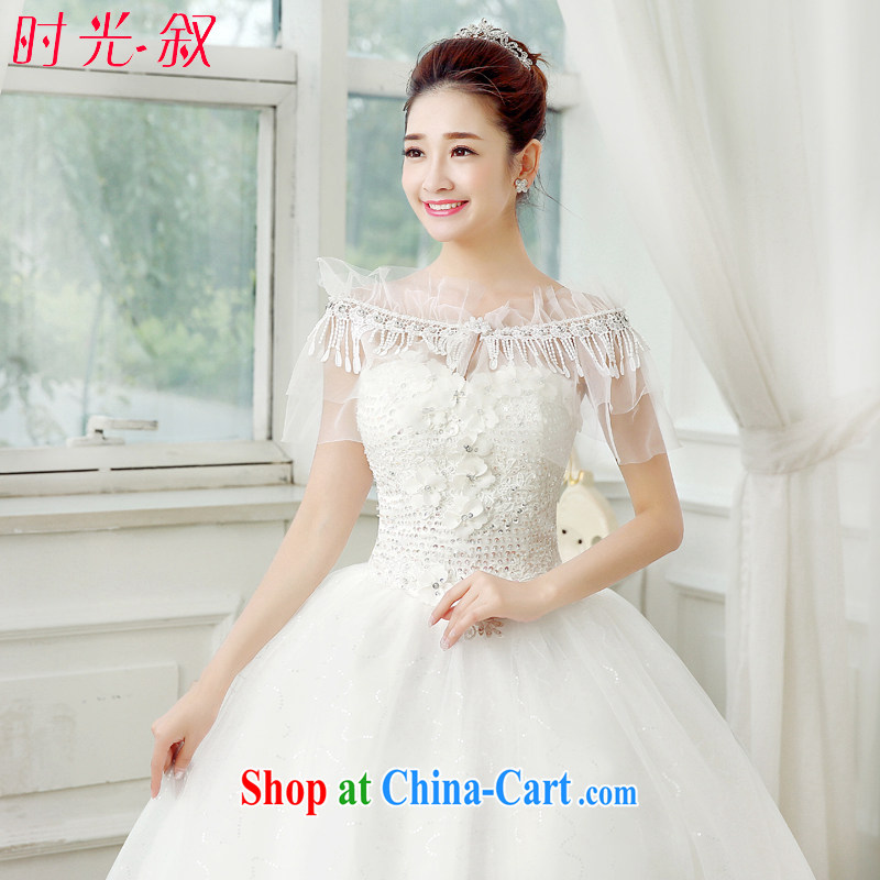 Time his wedding shawl summer 2015 new wedding dresses accessories marriages a shoulder shawl Korean bridesmaid gauze white shoulders, white are code