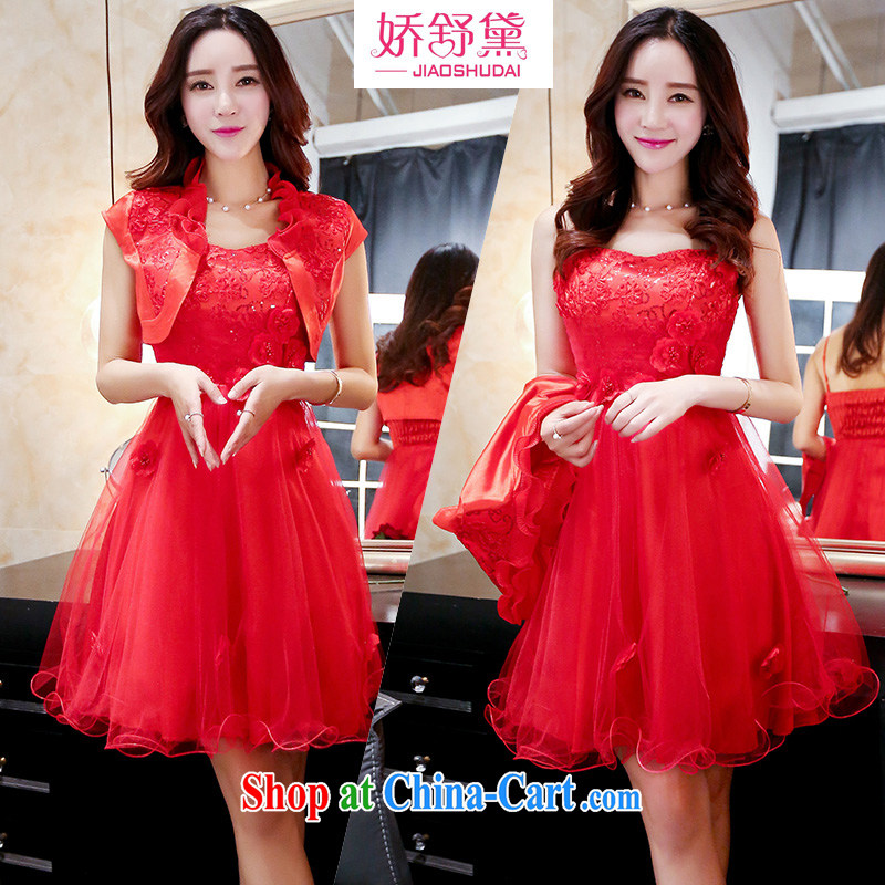 Air Shu Diana summer 2015 new dress code the dress wedding bridal dresses pregnant women replacing the door bows clothing bridesmaid dress red XXXL