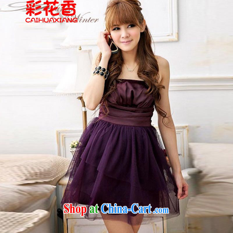 2015 new wedding dresses small bridesmaid dress evening gown dress 1286 purple are code