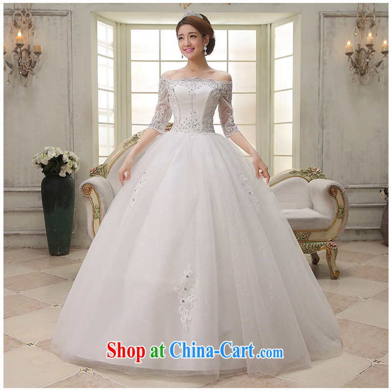 The beautiful yarn a Field shoulder with wedding fashion A with cultivating the cuff lace strap graphics thin bridal wedding dresses 2015 New factory direct white customizable