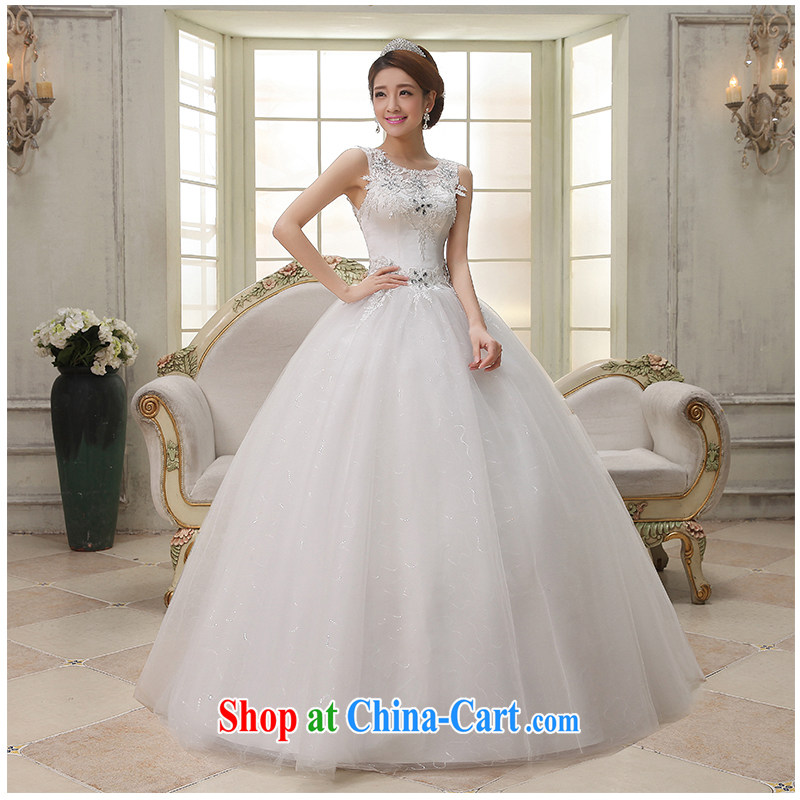 Summer 2015 new dual-shoulder a shoulder sleeveless with wedding beauty Simple Bind with Princess bride photo building photography wedding dresses, beautiful yarn white customizable