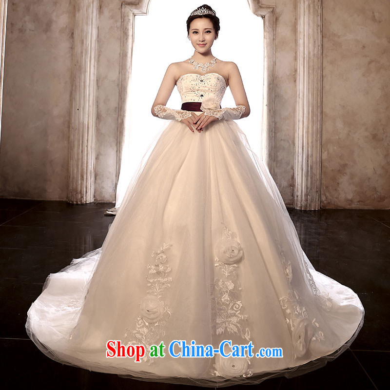 Jubilee 1000 bride 2015 new retro wiped his chest long-tail wedding beauty graphics thin stylish bridal wedding band wedding dresses H 902 tail section XXL