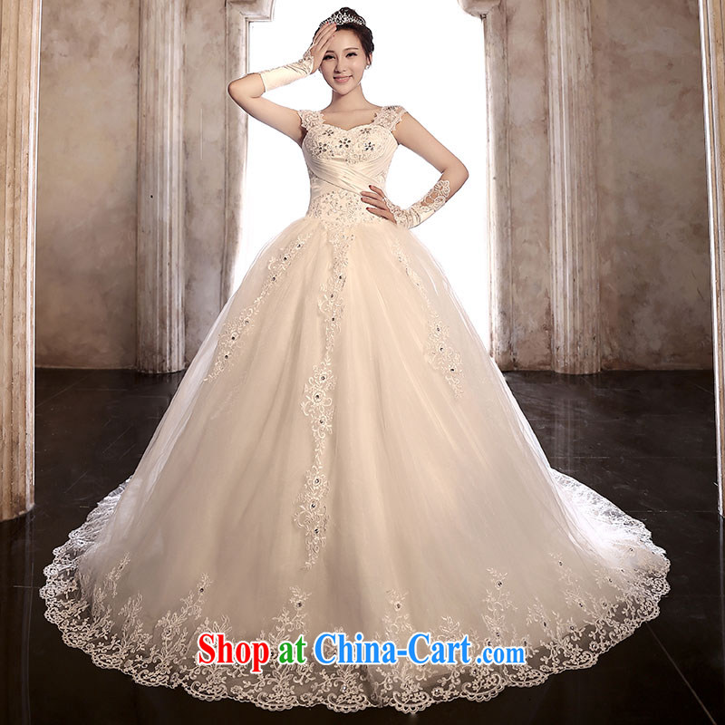 Jubilee 1000 bride 2015 new 3 through the lace bridal wedding dresses video thin the Field shoulder tail stylish wedding H 920 tail section XL
