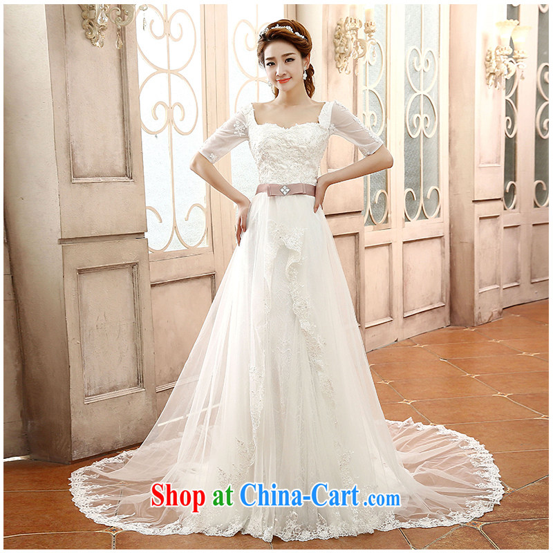 2015 New one shoulder-tail Wedding Fashion cuff small simple lady graphics thin straps bridal wedding dresses, beautiful yarn factory direct white customizable