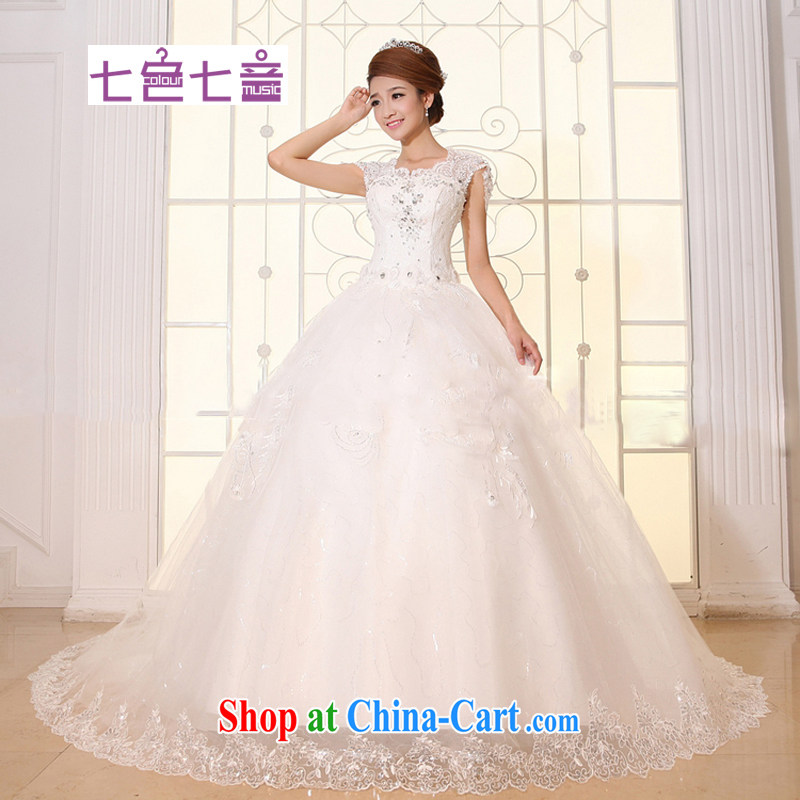 7-Color 7 tone antique Korean version 2015 white new stylish lace, with light V collar women wedding dresses H 030 white tail tailored (final)