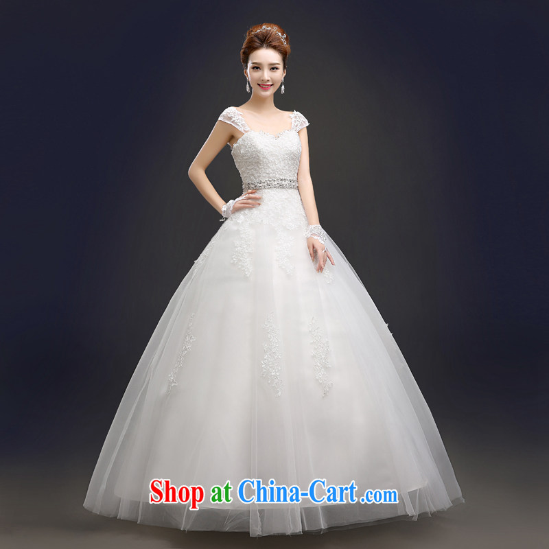 In Europe and the waist A with new wedding dresses summer 2015 new Korean layout shoulders with bridal graphics thin the field shoulder wedding white lace-work after the pearl white stylish tailored final 7 day