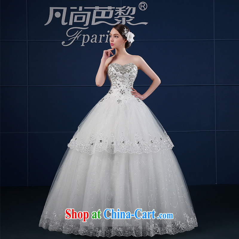 Where is Hip Hop Lai wedding dresses? 2015 new spring and summer maximum code beauty retro minimalist wipe chest wedding summer bridal white XXL