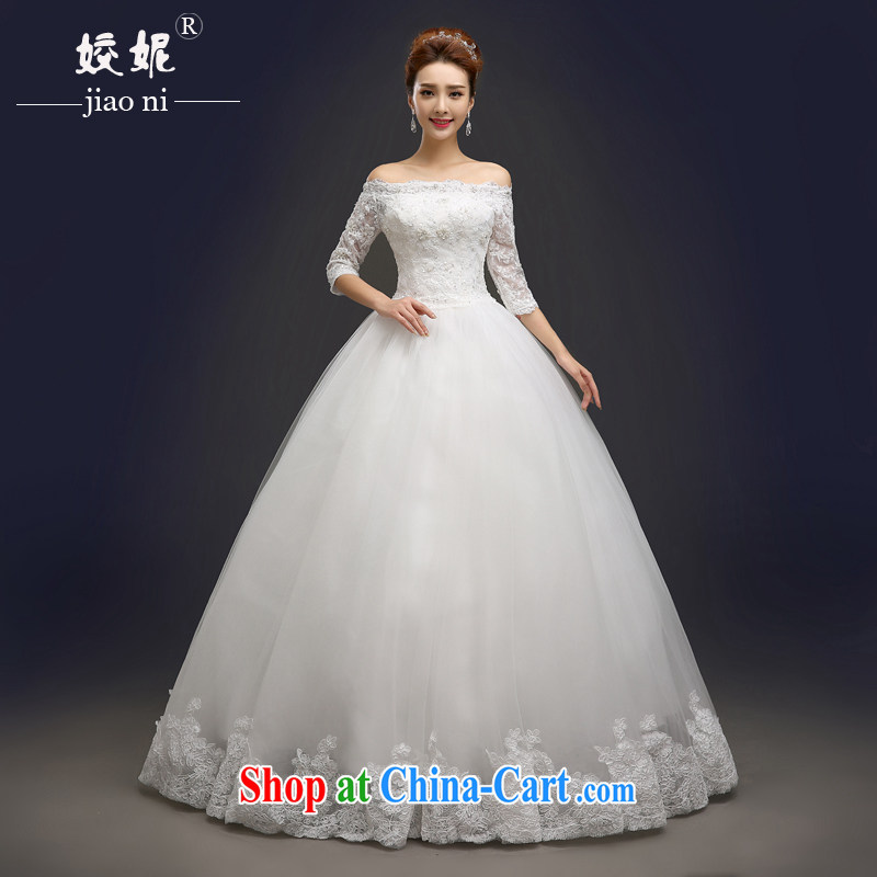Connie focus 2015 spring and summer new wedding fashion a Field shoulder marriages lace inserts drill with wedding dresses women's code can be customized 001 white tailored final 7 day