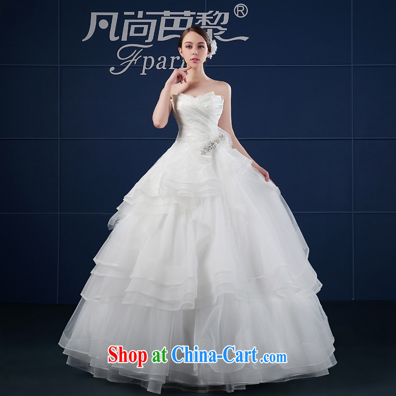 wedding dresses 2015 new spring and summer Korean Beauty larger custom minimalist wipe his chest, bride, wedding summer white XXL