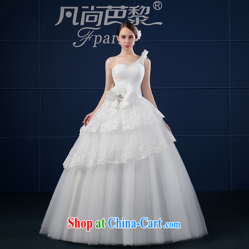 Where is Paris wedding dresses 2015 new spring and summer Korean version the code simple beauty bridal the shoulder wedding summer white XXL