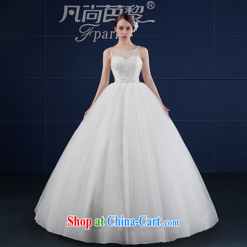 wedding dresses 2015 new spring and summer Korean version the code simplicity with beauty shoulders bridal wedding summer field shoulder white XXL