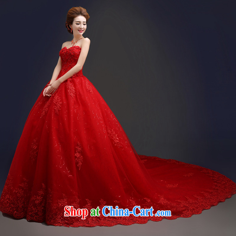 Kou connie original large code erase chest red wedding for Wedding dresses for big chest