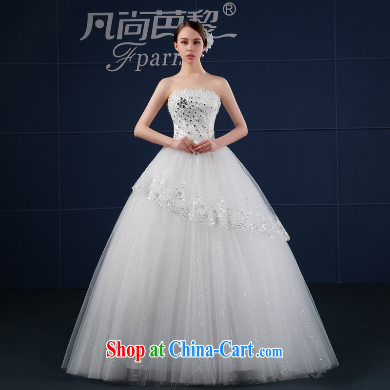 Where is Hip Hop Lai wedding dresses 2015 new spring and summer Korean version the code drill cultivating wiped his chest, bridal wedding summer white XXL