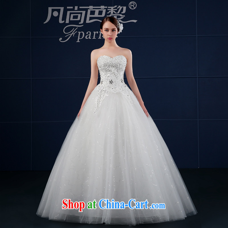 wedding dresses 2015 new spring and summer Korean version the code custom beauty graphics thin wiped his chest, bride, wedding summer white XXL