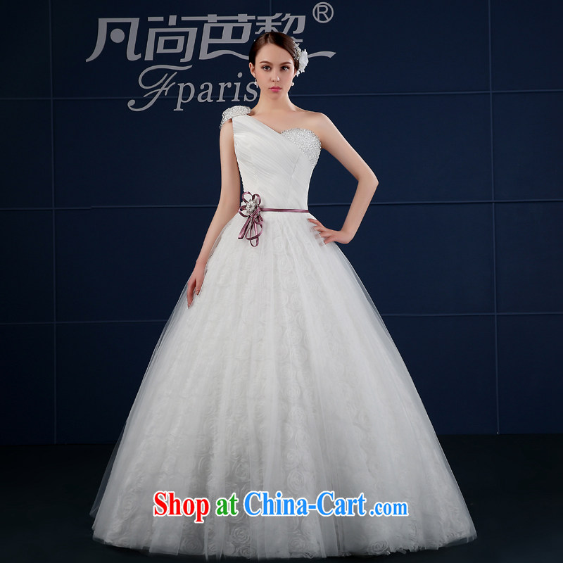 Where is Hip Hop Lai wedding 2015 new Korean version the code simple drill cultivating white custom single shoulder bridal wedding summer white XXL