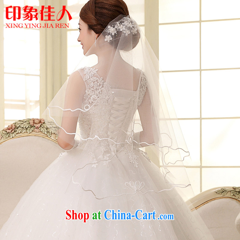 Impression Leigh 2015 new bridal jewelry accessories white head yarn lace wedding and legal marriages and legal fashion white head yarn