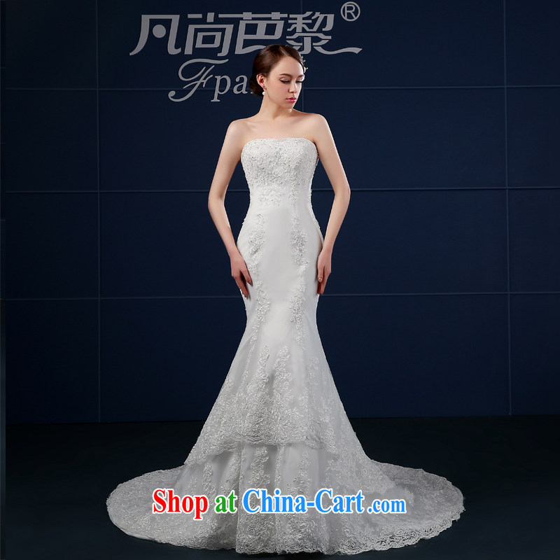 Bridal wedding dresses new 2015 summer wiped chest Korean code crowsfoot wedding summer bride-tail minimalist beauty graphics thin white XXL