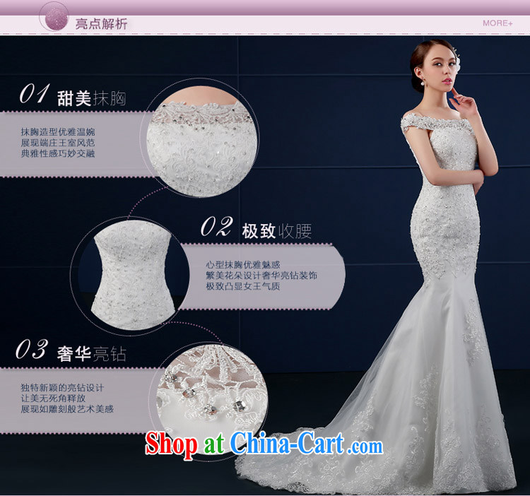 Bridal wedding dresses 2015 summer New Field shoulder-tail end crowsfoot wedding summer cultivating Korean bridal shoulders minimalist white XXL pictures, price, brand platters! Elections are good character, the national distribution, so why buy now enjoy more preferential! Health