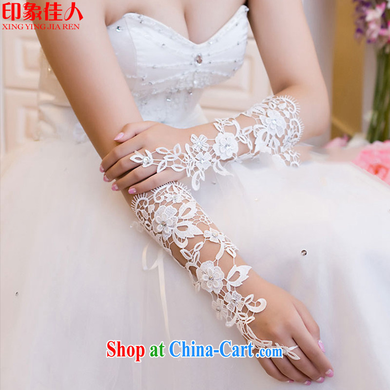 Leigh was tied with a long, bridal gloves new marriage Openwork lace floral terrace a wedding gloves YT 1004