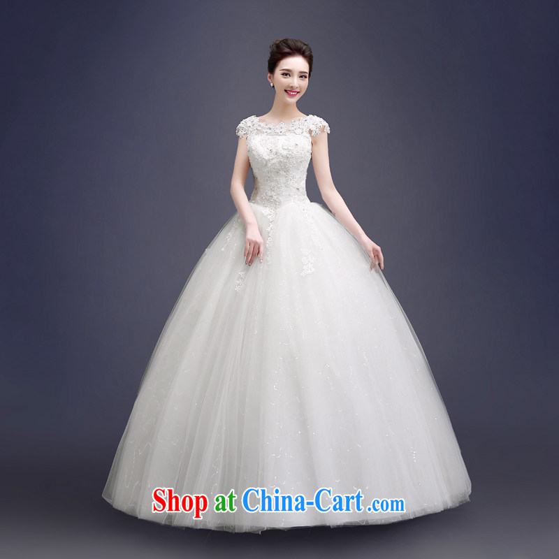 Kou Connie wedding dresses a shoulder white bridal wedding summer 2015 Korean-style with the number 0018 JNHS white L