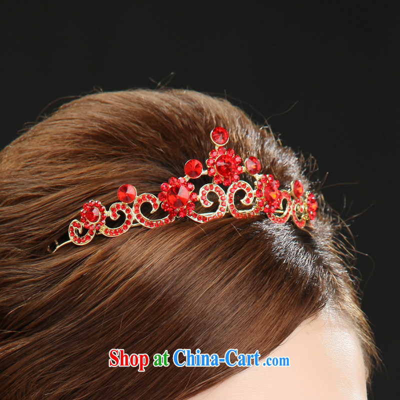 7-Color 7 tone bridal head-dress 3 piece wedding accessories red water drilling wedding dress bows dress, SP 001 necklaces and ear pendants are code, and 7-Color 7 tone, and shopping on the Internet