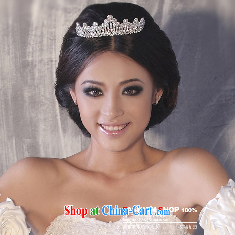 Bridal wedding dresses accessories accessories Korean-style Crown HG 6053 water drilling jewelry 2015 new marriage Crown picture color