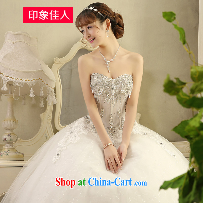 Leigh impression summer 2015 New Flash water drilling bridal lace lace field shoulder large white code graphics thin wedding H M 1808