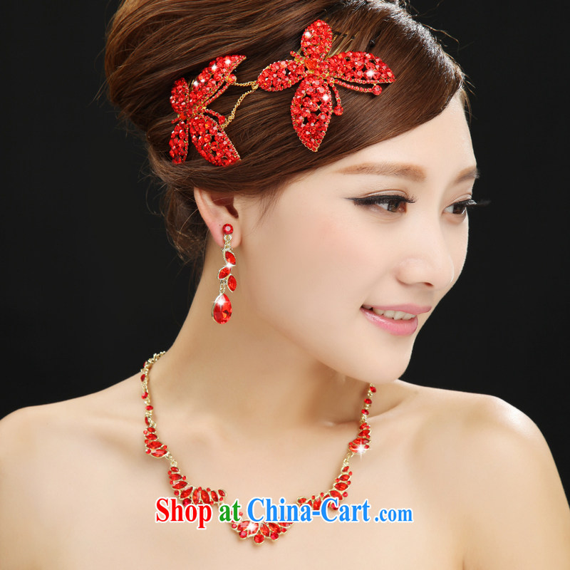7-Color 7 tone 2015 stylish new Korean-style bride's head with fine petal luxury parquet drill marriage wedding accessories PS 006 necklace ear fall are code, and 7-Color 7 tone, and, shopping on the Internet