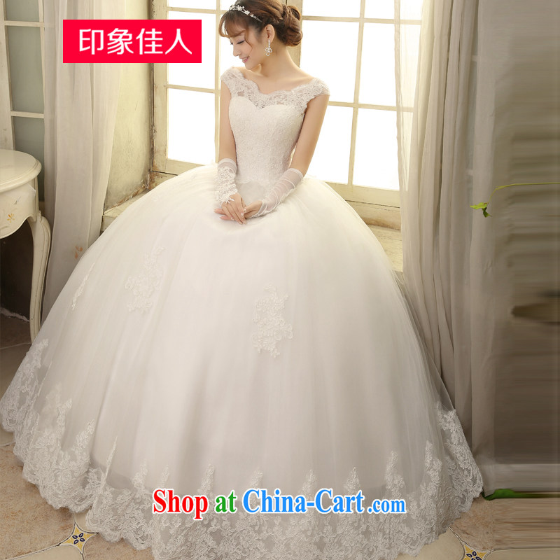 Leigh impression wedding dresses 2015 spring and summer new continental Web yarn retro with straps bridal graphics thin the Field shoulder lace wedding H XL 1812