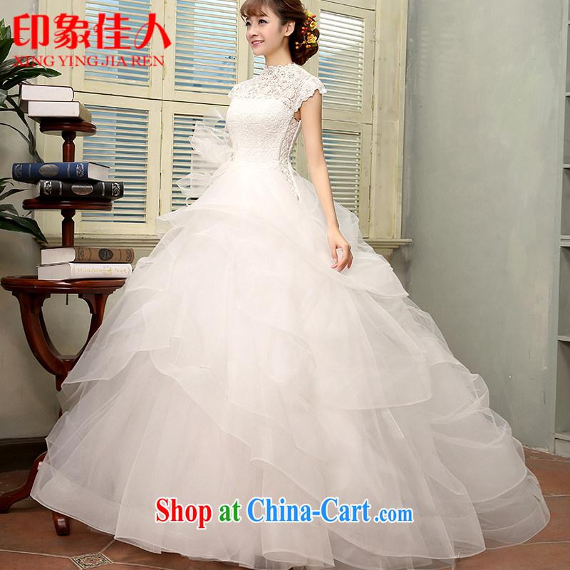 2015 New one shoulder wedding dresses retro minimalist Web yarn shaggy skirts the Field shoulder spring and summer, bridal wedding H XL 2806