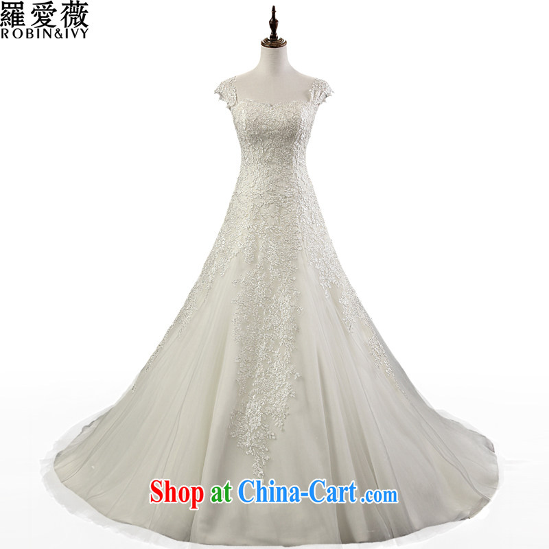 Love, Ms Audrey EU Yuet-mee, RobinIvy), Japan, and the ROK wedding dresses 2015 spring and summer new shoulders back exposed crowsfoot tail marriages H 35,153 white advanced customization