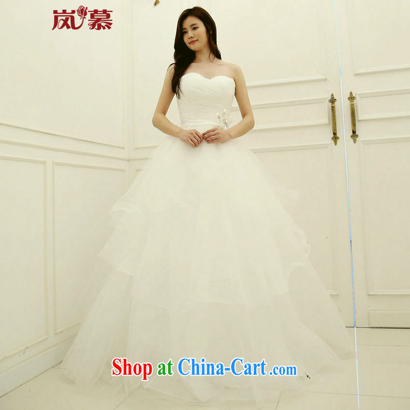 Sponsors The 2015 Original Design conservative removable small jacket wedding built-in shaggy dress bridal wedding ivory XL _chest 95_waist 79_