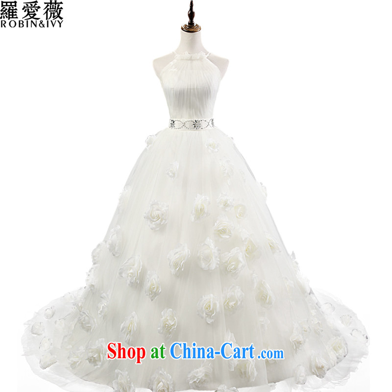 Love, Ms Audrey EU Yuet-mee, RobinIvy_, Japan, and the Republic of Korea wedding dresses 2015 spring and summer new hanging flower also tail diamond jewelry marriages 34,569 H L
