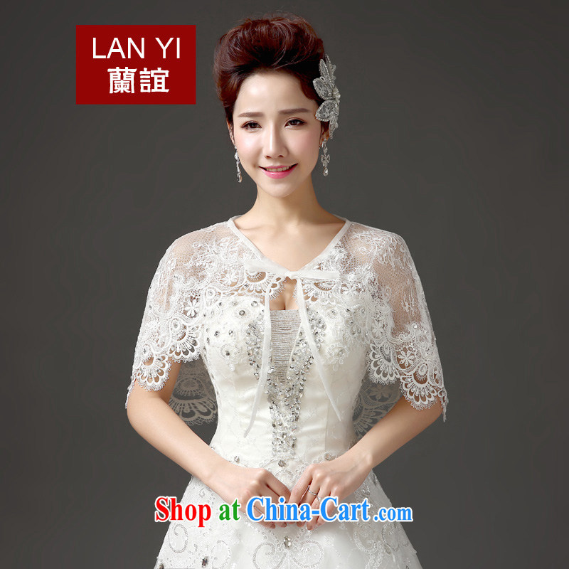 (Quakers) estimated 2015 bridal wedding dresses accessories shawl Korean summer graphics thin lace water drilling sunscreen marriage shawl white are code thick thin are all good through
