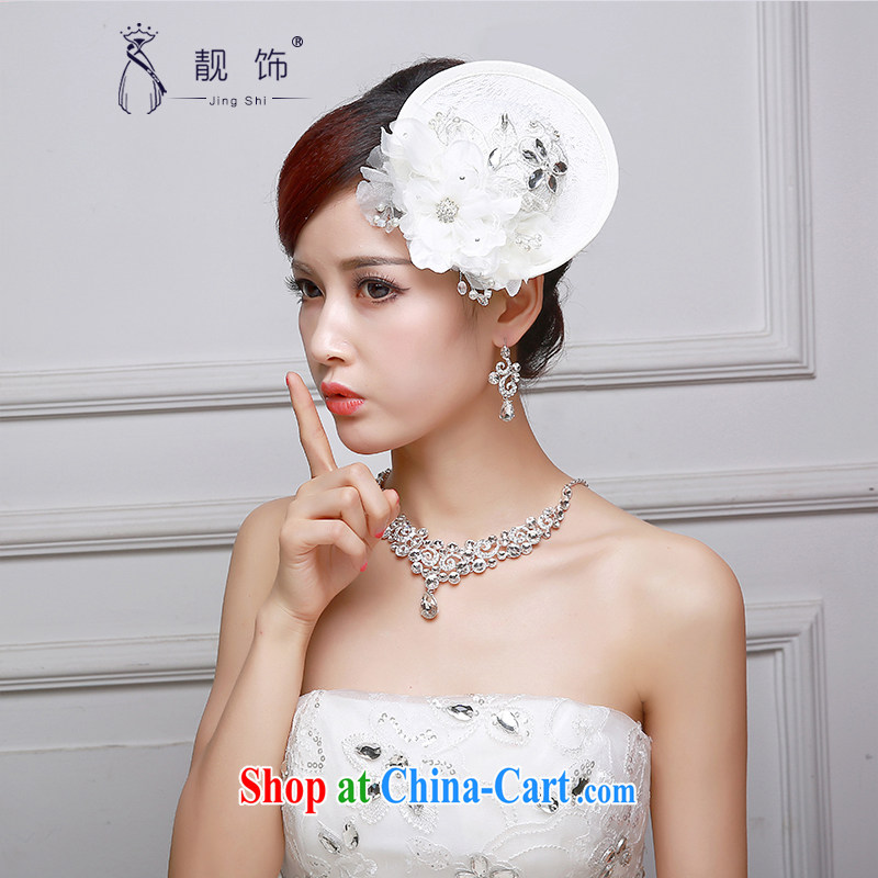 Beautiful ornaments 2015 bridal headdress hat wedding accessories white flowers beautifully decorated hat shadow building supplies white hat 007