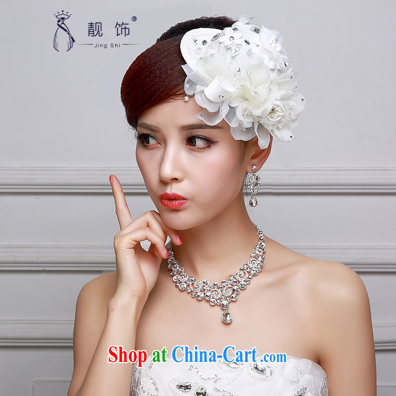 Beautiful ornaments 2015 bridal headdress hat wedding accessories white flowers beautifully decorated hat shadow building supplies white floral decorations 009