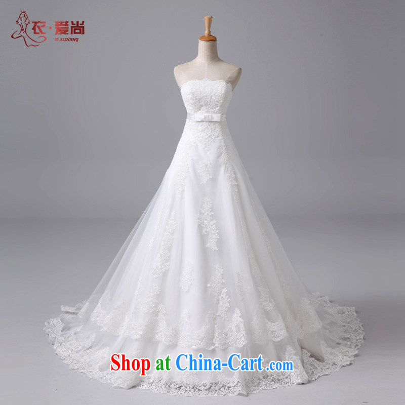 2015 new, wipe off chest lace continental antique palace wedding elegant wedding bridal crowsfoot wedding tail white to make the $30 does not return