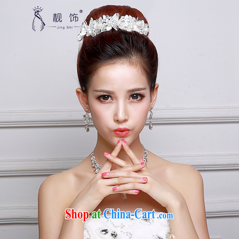 Beautiful ornaments 2015 new bridal headdress necklace ear ornaments Kit Korean-only American bridal Crown wedding accessories accessories wedding supplies Korean-style only the US and International 014