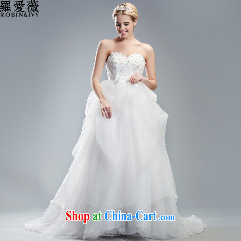 Love, Ms Audrey EU Yuet-mee, RobinIvy), Japan, and the ROK wedding dresses 2015 spring and summer new Mary Magdalene and chest bubble skirt with tail marriages H 34,536 white L