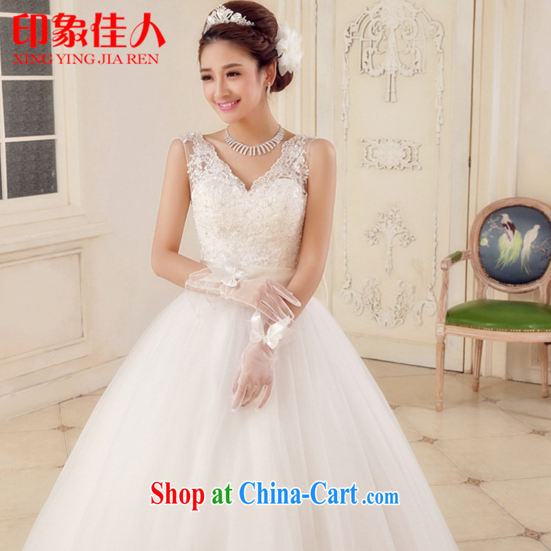 Leigh impression wedding dresses new 2015 stylish shoulders shaggy skirts larger drill wedding with graphics thin lace summer 1501 H L