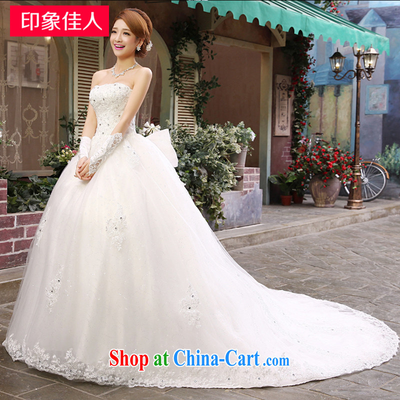 Leigh impression wedding dresses new 2015 spring bridal graphics thin beauty chest off the tail insert drill with wedding H XL 2201