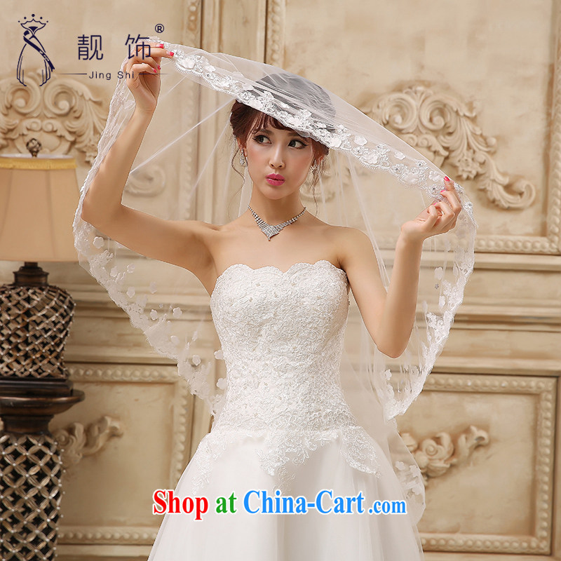 Beautiful ornaments 2015 new brides and yarn white floral decorations bride and legal wedding accessories 1.5m White 084
