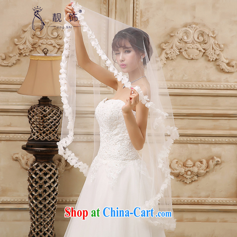 Beautiful ornaments 2015 new brides and yarn white floral decorations bride and legal wedding accessories 1.5m White 081