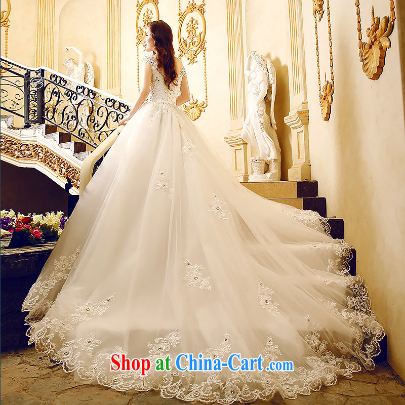 Code Bethlehem 2015 summer New Field shoulder-tail wedding Korean lace stylish wedding custom wedding dresses _1 M and 1.5, the tail -- 1M tail L