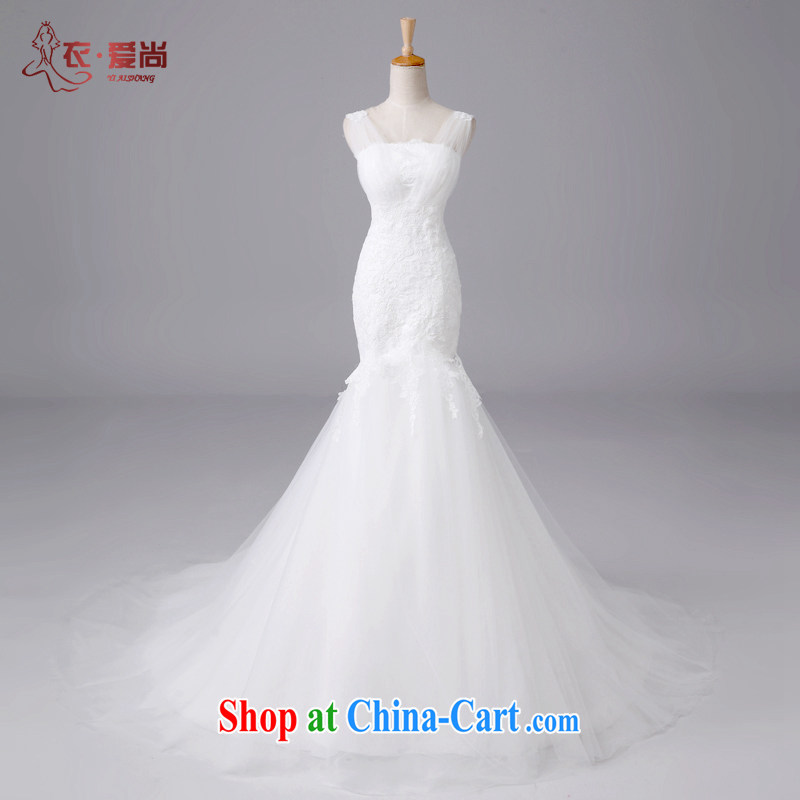Clothing and love are summer 2015 new wedding dresses luxurious lace strap with bare chest, wedding Fitness Package and crowsfoot the trailing double-shoulder straps, wedding ceremony white to make the $30 does not return