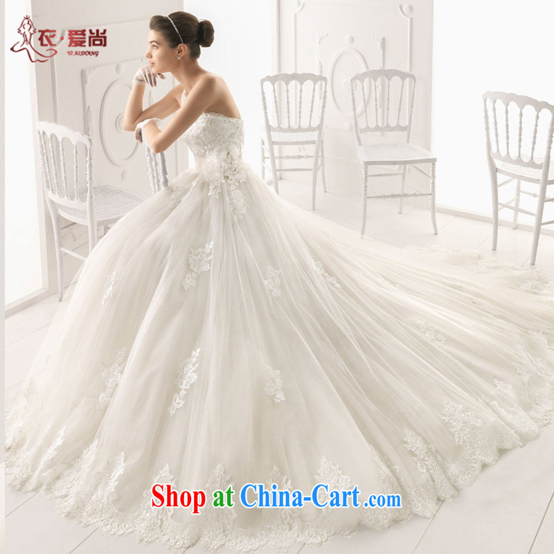 Yi love is wedding dresses summer, 2015 bridal wedding dresses Custom High Quality Single shoulder marriage wedding dresses sexy Korean long-tail lace white high white marriage can make the $30 does not return