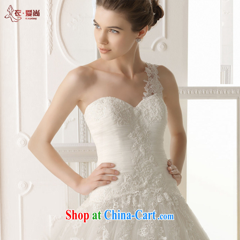 Yi love is wedding dresses 2015 summer new erase chest Korean-style wedding dresses Western tail lace wedding crowsfoot wedding dresses female white to make the $30 does not return