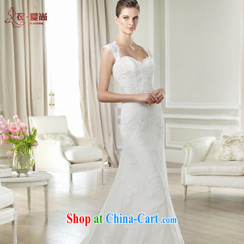 Yi love is wedding dresses 2015 spring and summer new Korean-style marriages beauty graphics thin lace bridal shoulders A field dress tie-tail wedding dresses female white to make the _30 does not return